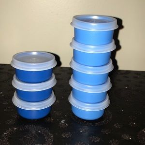 NWOT Tupperware smidgets lot of 8 tiny containers